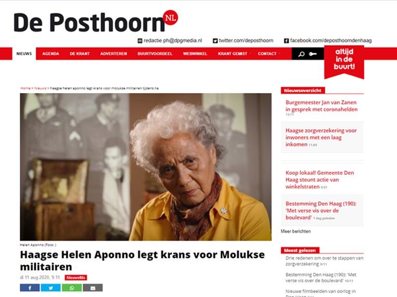 Helen Aponno in het nieuws Posthoorn